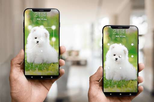 Puppy Dog Pattern Lock Screen android2mod screenshots 2