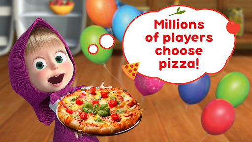 Masha and the Bear Pizzeria Game! Pizza Maker Game  screenshots 1