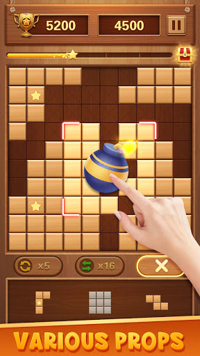 Wood Block Puzzle - Free Classic Brain Puzzle Game 1.5.3 screenshots 3