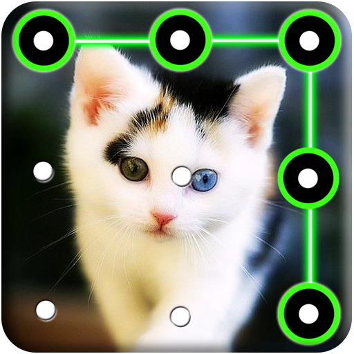 Kitty Cat Pattern Lock Screen