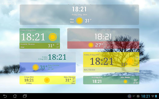 Weather ACE Clock Widget Pack For PC Windows (7, 8, 10, 10X) & Mac Computer Image Number- 12
