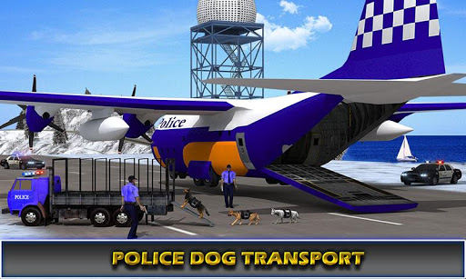 us police airplane cop dog transporter kids games screenshot 1