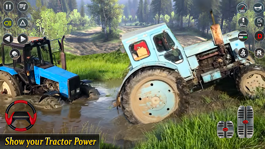 Real Tractor Pulling Simulator  Offroad | City Mod Apk Download 4