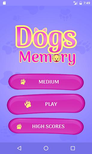 cute dogs memory matching game screenshot 2