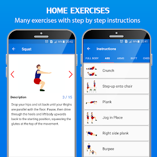 30 Day Home Workout - Fit challenge home workouts Screenshot