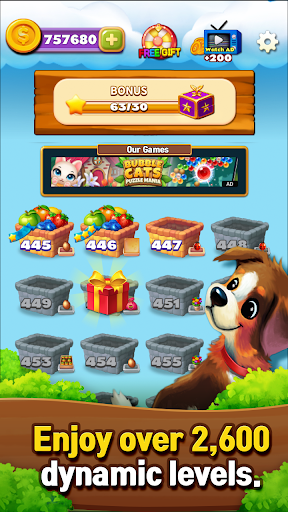 Fruits Farm: Sweet Match 3 games apkpoly screenshots 23