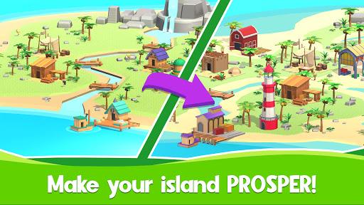 Idle Island Tycoon: Survival game apktreat screenshots 2