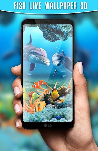 Fish Live Wallpaper 3D Aquarium Background HD 2021 apktram screenshots 7