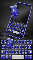 3d Blue Tech Keyboard Theme