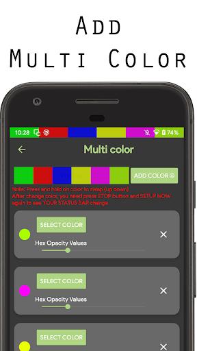 Color status bar - Customized Color & Wallpaper 47 screenshots 4