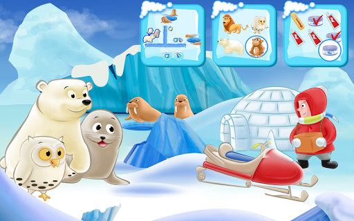 Polar Bear Cub - Fairy Tale with Games Free  screenshots 17