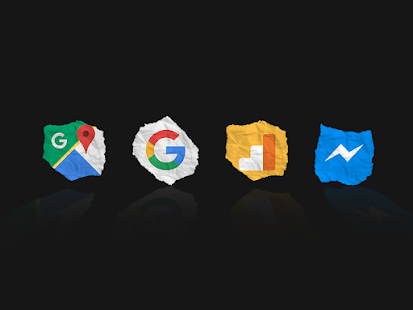 Icon Pack - Iconos originales en forma de papel Screenshot
