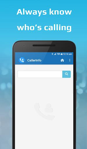 CallerInfo: Caller ID, Number lookup, Number book 4.0 Screenshots 1