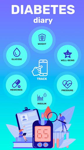 Glucose tracker & Diabetic diary. Your blood sugar screenshot 1
