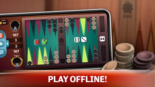 backgammon - offline free board games screenshot 1