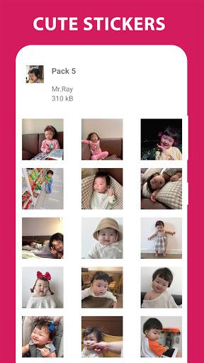 Funny Baby Stickers: Jin Miran Cute WAStickersApp apktram screenshots 6