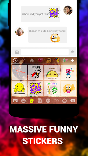 Emoji Keyboard Cute Emoticons - Theme, GIF, Emoji 1.8.5.0 screenshots 5