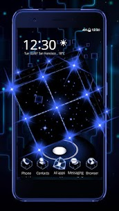 3D Tech Neon Cube Theme 1.1.6 MOD for Android 2