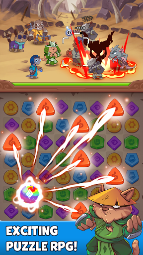 Heroes & Elements: Match 3 Puzzle RPG Game apkpoly screenshots 6