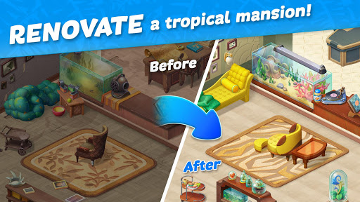 Hawaii Match-3 Mania Home Design & Matching Puzzle apkpoly screenshots 15