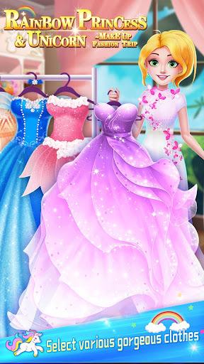 ud83dudc78Rainbow Princess & Unicorn Makeup - Fashion Trip 1.8.5038 screenshots 18