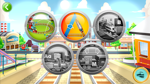 Learn Letter Names and Sounds with ABC Trains modiapk screenshots 1