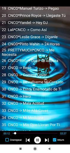 Escucha canciones de CNCO sin internet 1.2 screenshots 2