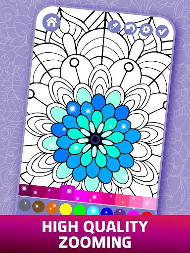Relaxing Adult Coloring Book 2.9 screenshots 10