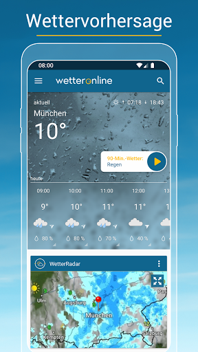 RegenRadar - Vorhersagen & live Wetterradar  screenshots 1