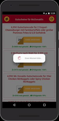 Gutscheine fu00fcr McDonald's 0.0.9 Screenshots 2