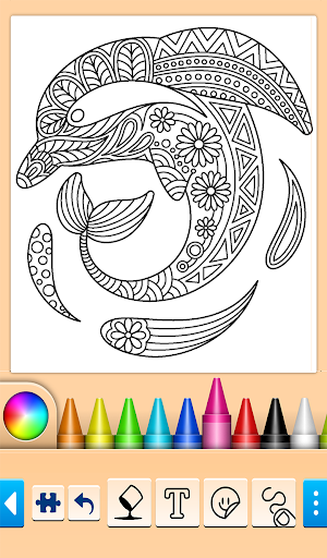 Dolphin and fish coloring book screenshots 1