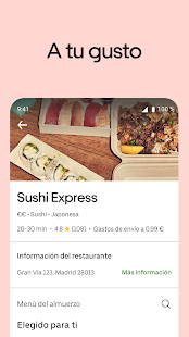 Uber Eats: comida a domicilio Screenshot