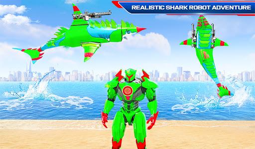 Robot Shark Attack: Transform Robot Shark Games apkpoly screenshots 13