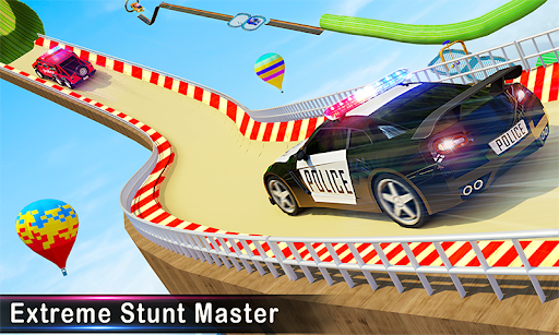 Police Ramp Car Stunts GT Racing Car Stunts Game apktreat screenshots 2