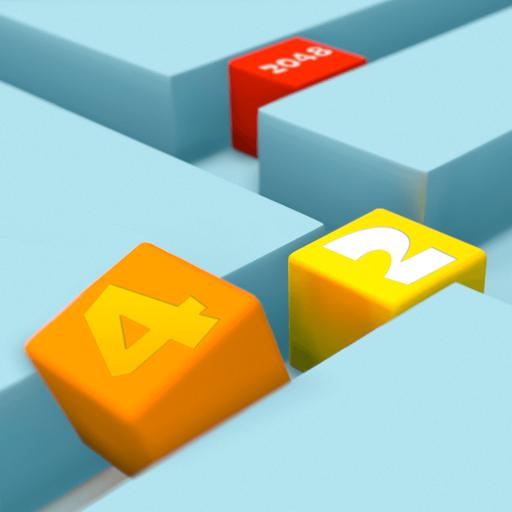 2048 Puzzle Slide: 3D Cube