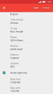 Speaking clock DVBeep Pro Apk (Paid) 6