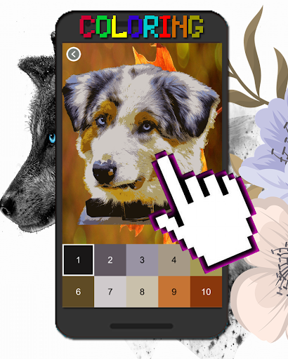 Dog Animal Coloring By Number-Pixel Art  screenshots 5