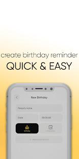 BIRTHY reminder : anniversary birthday reminder
