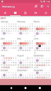 WomanLog Period Tracker & Calendar Screenshot