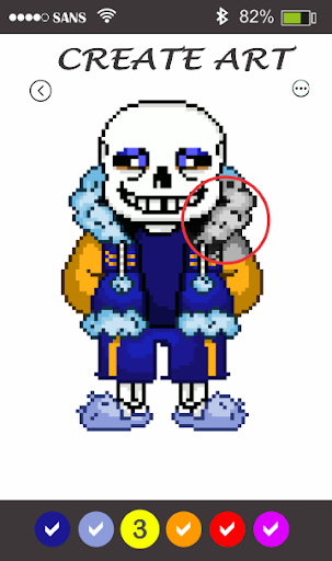 Sans Pixel Art - Paint By Number android2mod screenshots 3