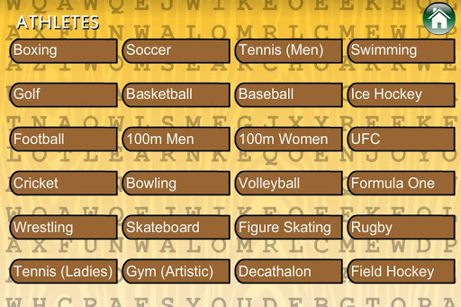 word search sports team games screenshot 3
