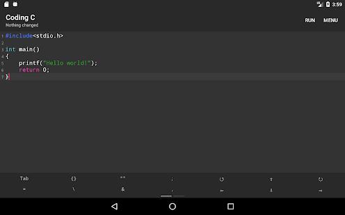 Coding C - The offline C language compiler
