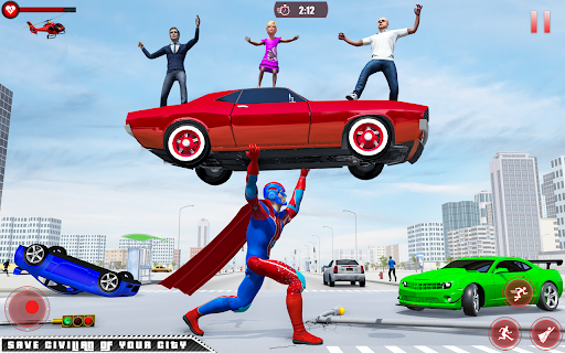 Flying Robot Superhero: Rescue City Survival Games screenshots 2