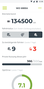 WEBFLEET Logbook Screenshot