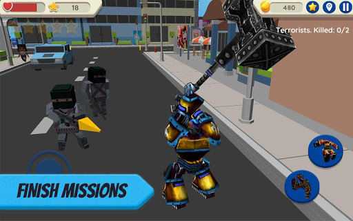 robot hero: city simulator 3d screenshot 1