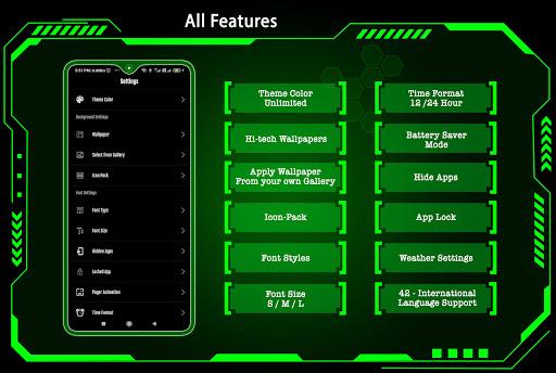 High Style Launcher 2021 - App Lock, Hide App 37.0 Screenshots 8