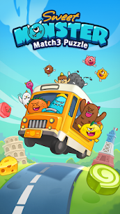 Sweet Monster™ Friends Match 3 Puzzle | Swap Candy 5