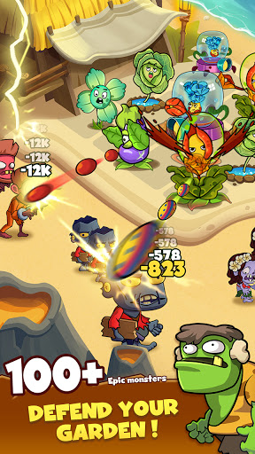 Zombie Defense - Plants War - Merge idle games screenshots 2