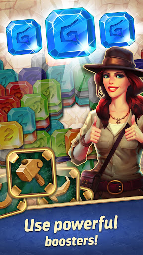 jones adventure mahjong - quest of jewels cave screenshot 2