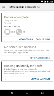 SMS Backup & Restore Pro Screenshot